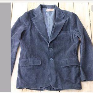Machine Velvet Sz M 100% Cotton Blazer